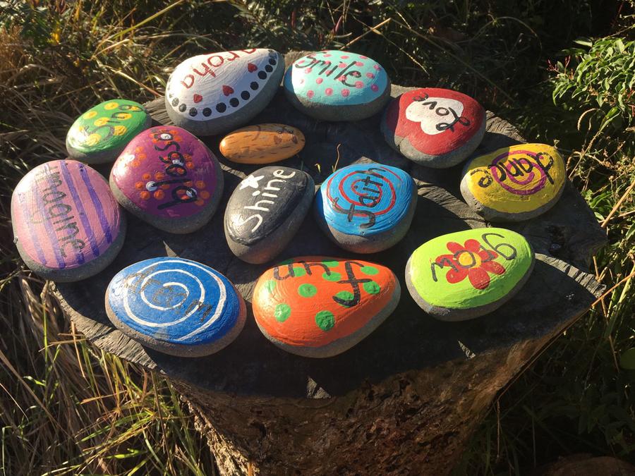 ニュージーランド教育石の遊び